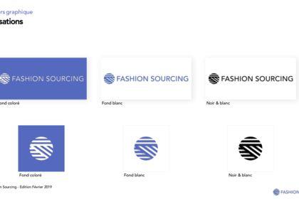 Création charte graphique Fashion Sourcing