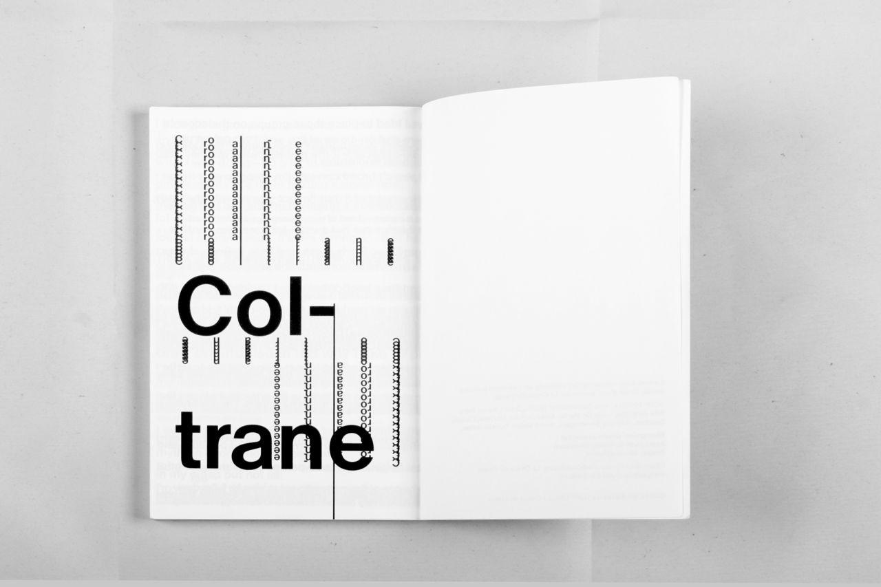 John Coltrane, spécimen typographique