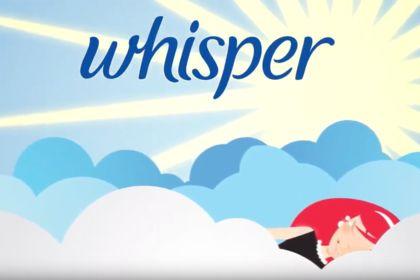 Pub pour la marque Whisper