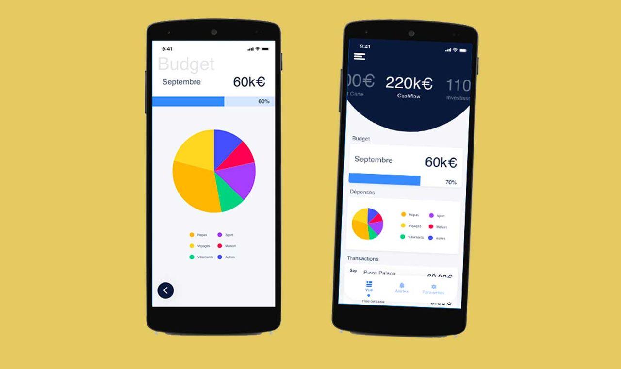 Réalisation de l'UX, UI d'un app mobile