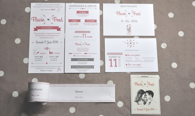Identité visuelle mariage