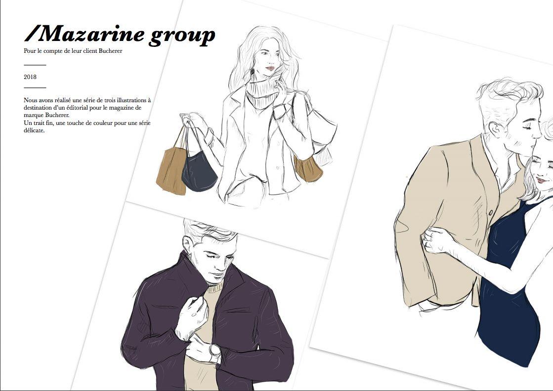 Illustrations Mazarine group