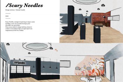 Design intérieur boutique Scary Needles