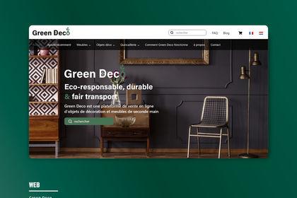 Site internet e-commerce - Green Deco