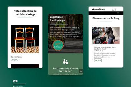 Site internet vue mobile - Green Deco