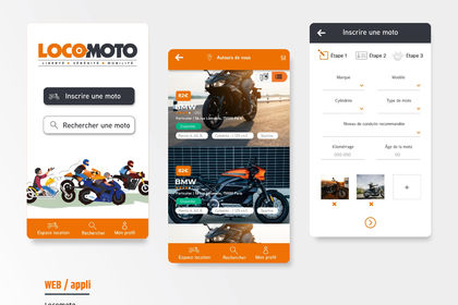 Webdesign application mobile - LOCOMOTO