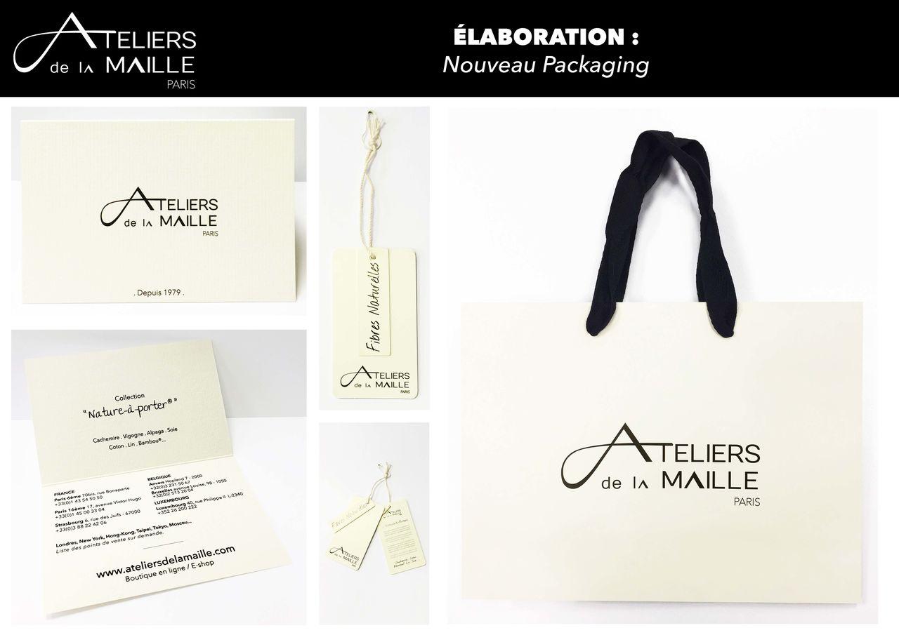 Réalisation #new packaging ateliers de la maille
