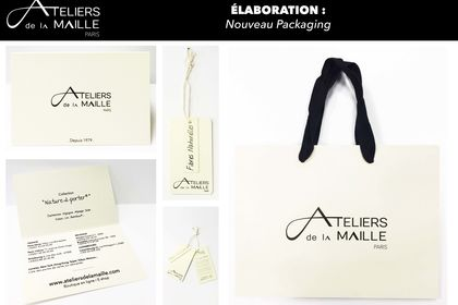 Réalisation #new packaging ateliers de la maille