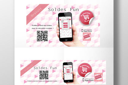 Stickers pour application soldes fun