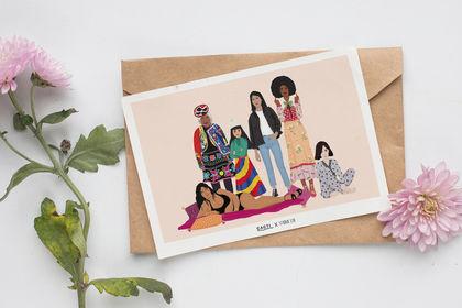 Illustration pour gamme de papeterie Studio Liu