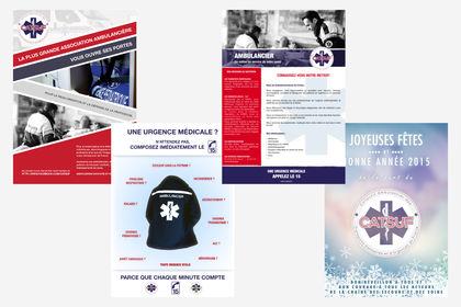 Affiches association d'ambulanciers