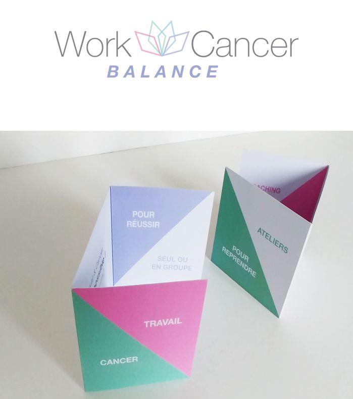 Logo et dépliant Work and Cancer Balance