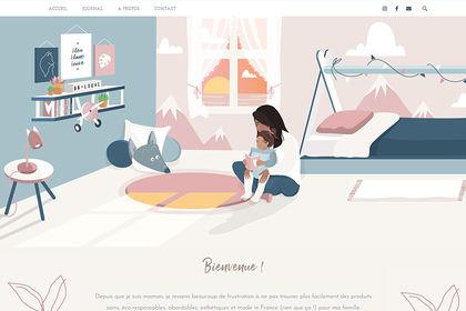 Bannière web illustrée Bleu Blanc Louve