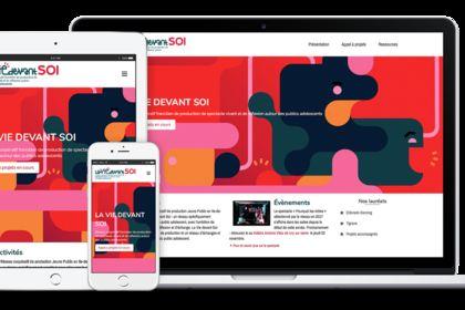 Logo et site web pour La vie devant Soi