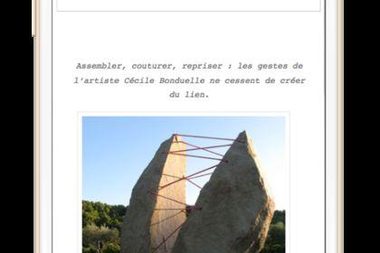 Site Wordpress de l'artiste Cécile Bonduelle
