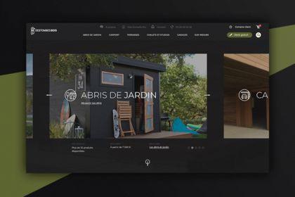 Destombes bois, webdesign