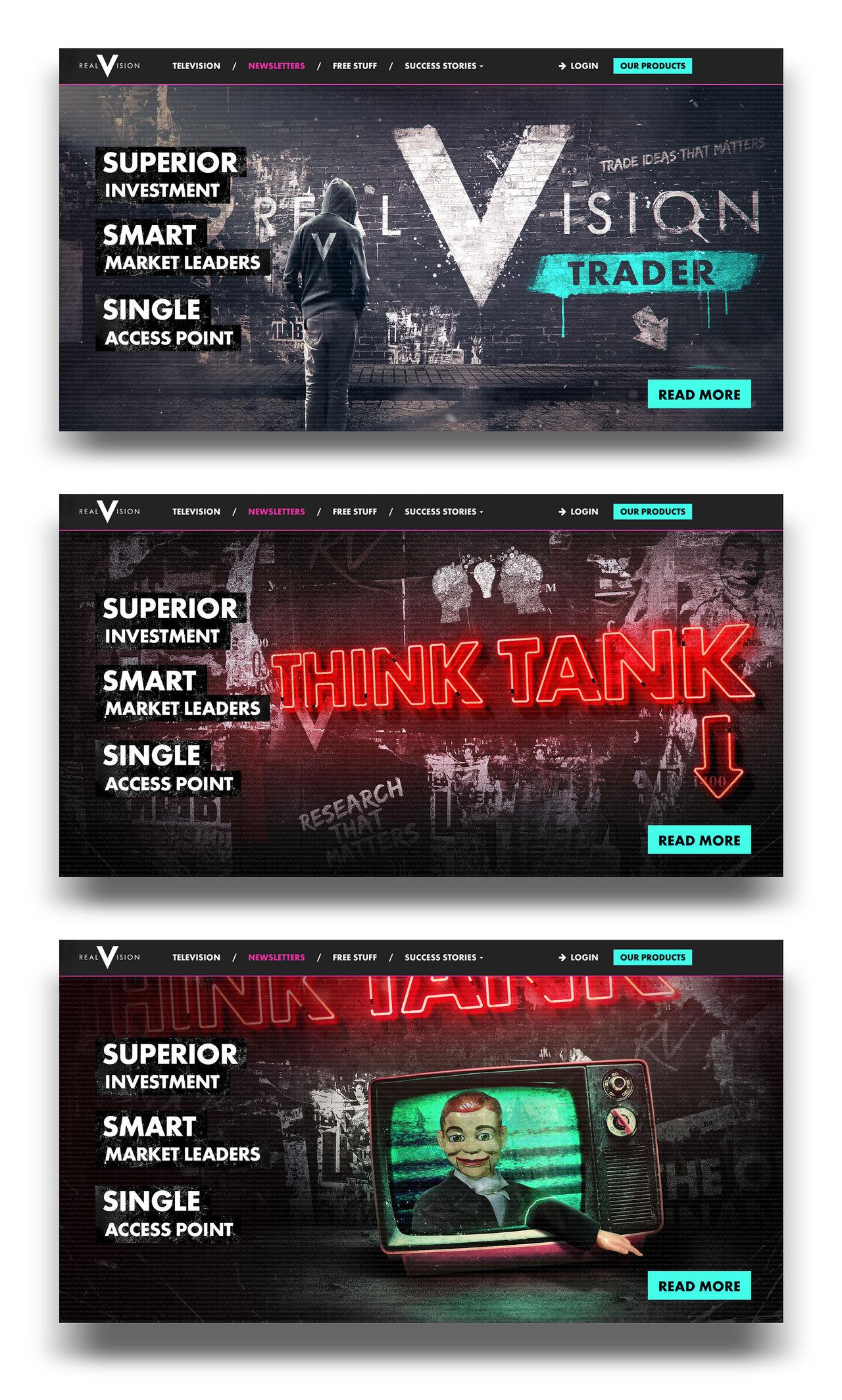 "Direction Artistique, ""REALVISION"" website"