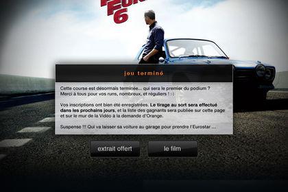 Application Facebook ORANGE VOD
