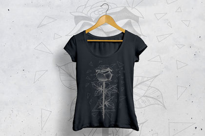 Design de t-shirt - rose