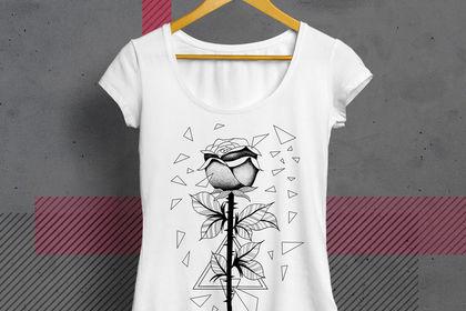 Design t-shirt - rose - Noir sur blanc