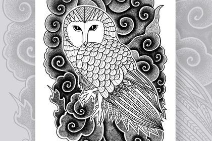 Poster décoratif - Mystic owl