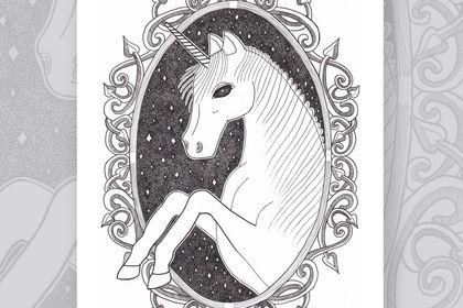 Poster décoratif - Dark unicorn