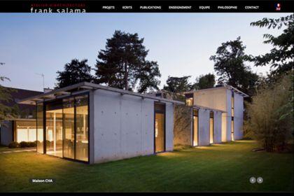 Réalisation du site de l'architecte frank salama