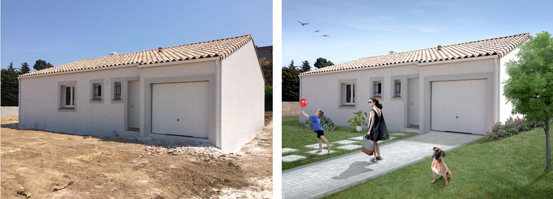 Photomontage projet  immobilier