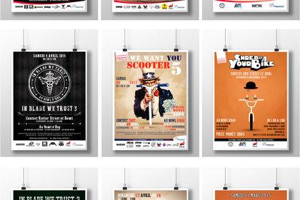 Affiches évènements sports  de glisse urbains