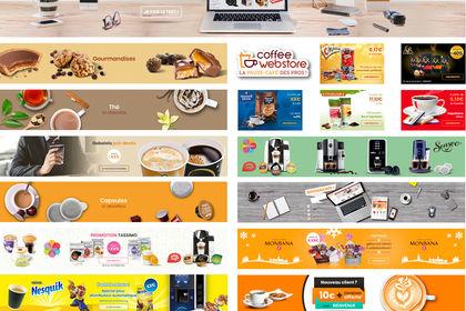 Bannières web coffee-webstore