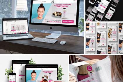 Design site e-commerce santé - bien-être