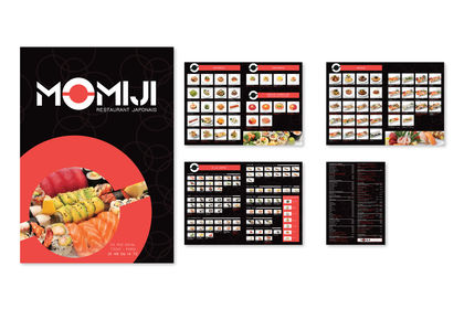 Conception Carte et Menu Restaurant Japonais