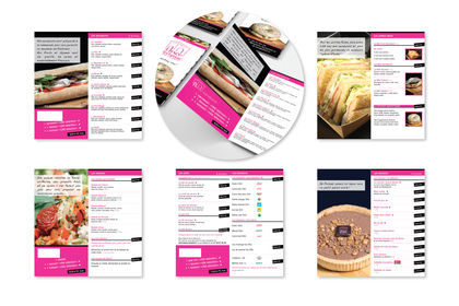 Création d'une brochure pour un traiteur