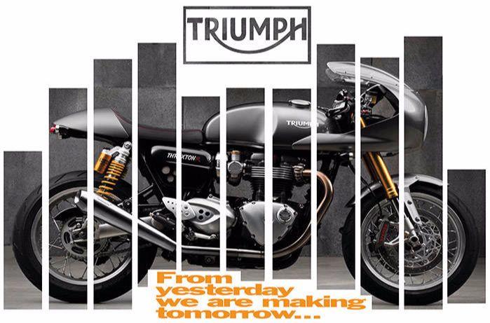 Triumph Thruxton publicité