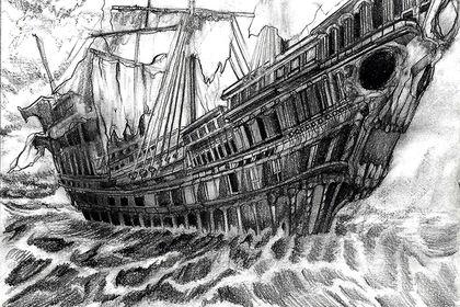 Croquis de bateau pirate