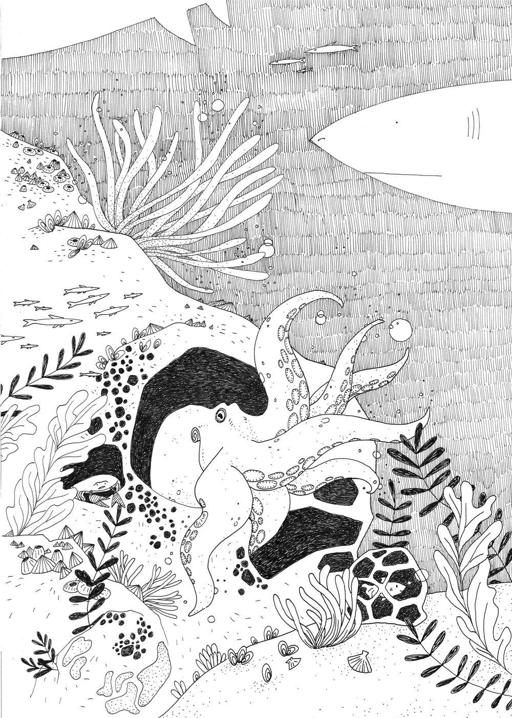 Illustration rapide au rotring