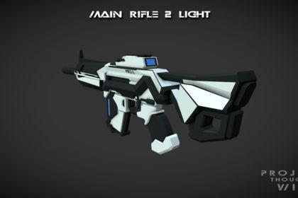 Fusil d'assaut 3D Science-fiction