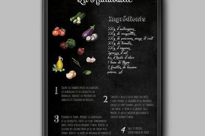 Affiche recette de cuisine