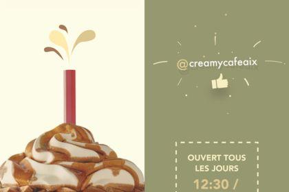 Flyer pour le Creamy Café d'Aix en Provence