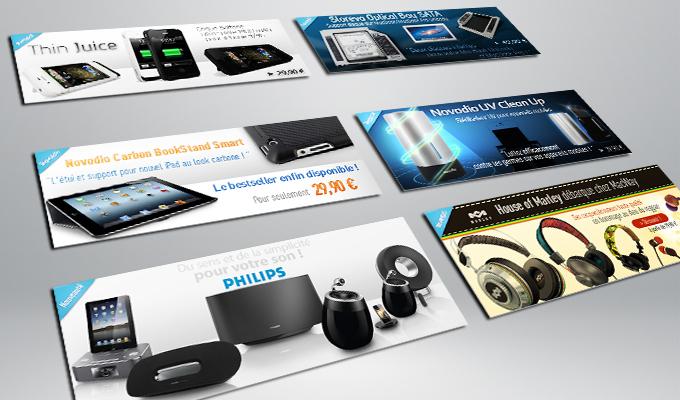 Bannières web e commerce