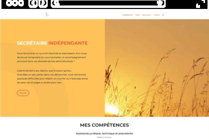 Site internet pour secrétaire indépendante