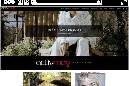 Site web pour magazine