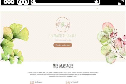 Site web pour praticienne de massage