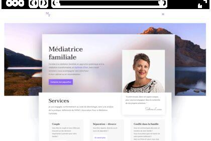 Site web, médiatrice familiale