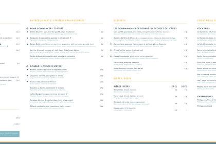 Carte totem restaurant