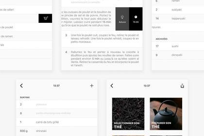 Interface application mobile et tablette