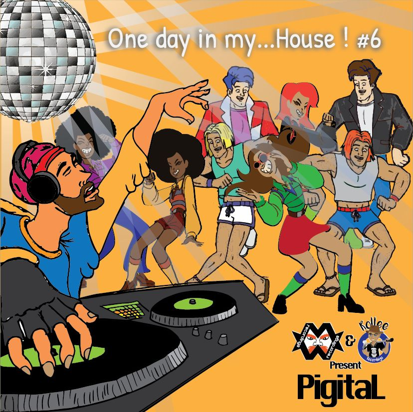 CD COVER One day un my... House! vol. 6