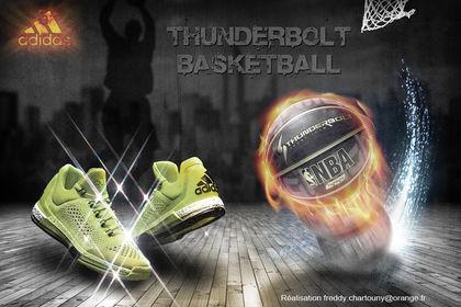 Pub Adidas basketball - Thunderbolt