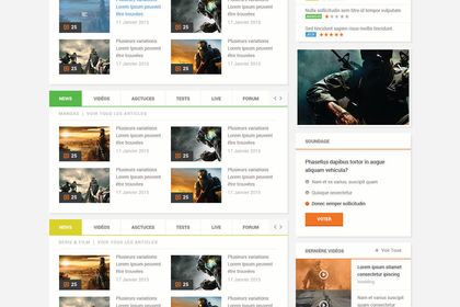 Webdesign (interface site web communautaire)