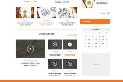 Webdesign (interface site web jeux video)